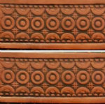 "Geometric Design Embossed Full Grain Leather Belt . 1½"" (38mm) Wide. Design: EM052"